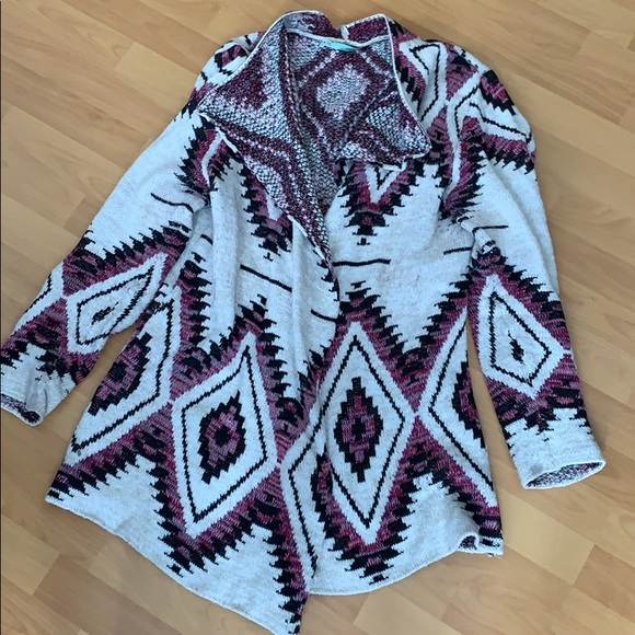 Maurices Aztec sweater cardigan
